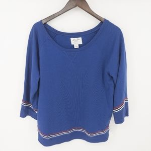 Lucky Brand Soft Knitwear Embroidered Sweatshirt